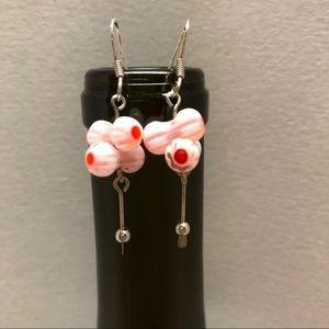 Jewelry - Sterling silver & bead earrings.
